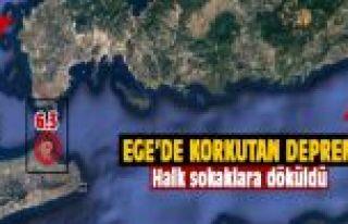 Ege'de 6.3 büyüklüğünde deprem!