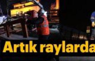 Eminönü-Alibeyköy tramvay hattında test sürüşü...