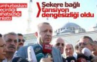 Erdoğan bayram namazında rahatsızlık geçirdi