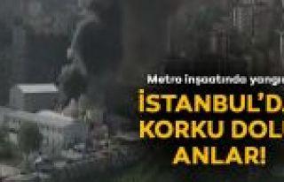 Eyüp-Güzeltepe metro inşaatında yangın