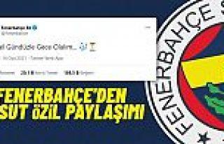 Fenerbahçe'den taraftarları heyecanlandıran 'Mesut...