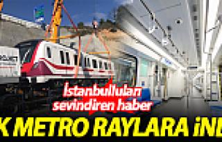 Gayrettepe-İstanbul Havalimanı Metrosu'nda ilk tren...