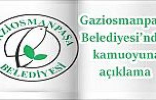 Gaziosmanpaşa Belediyesi'nden kamuoyuna açıklama