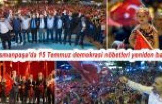 Gaziosmanpaşa'da 15 Temmuz demokrasi nöbetleri yeniden...