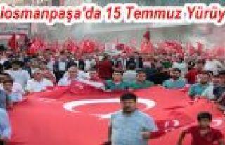 Gaziosmanpaşa'da 15 Temmuz Yürüyüşü