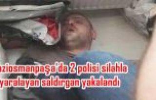 Gaziosmanpaşa'da 2 polisi silahla yaralayan saldırgan...