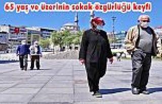 Gaziosmanpaşa'da 65 yaş ve üzerinin sokak özgürlüğü...
