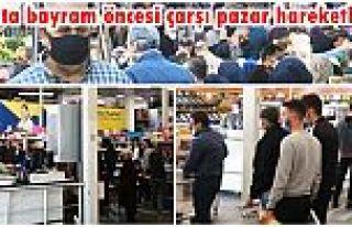 Gaziosmanpaşa'da bayram öncesi çarşı pazar...