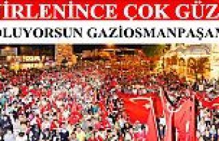 """Gaziosmanpaşa'da """"demokrasi yürüyüşü""""..."""