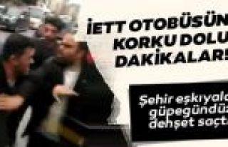 Gaziosmanpaşa'da İçi yolcu dolu İETT otobüsüne...
