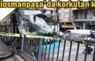 Gaziosmanpaşa'da korkutan kaza... Halk otobüsü...