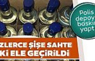Gaziosmanpaşa'da sahte içki operasyonu: 700 şişe...