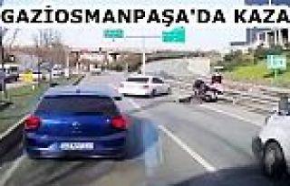 Gaziosmanpaşa'da yolun karşısına geçmeye çalışan...
