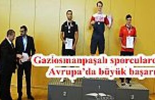 Gaziosmanpaşalı sporculardan Avrupa'da büyük...