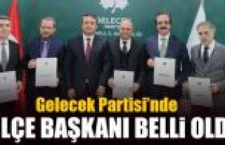 Gelecek Partisi'nin İstanbul'da 5 kurucu ilçe başkanı...