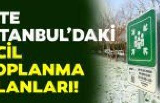 İBB, deprem toplanma alanlarını açıkladı (İstanbul...