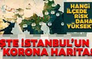 İstanbul corona virüs risk haritası... Hangi ilçeler...