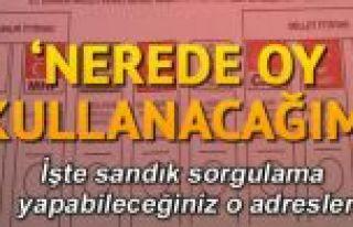 İstanbul seçiminde oy kullanılacak yerler belli...