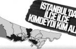 İstanbul'da dört ilçe el değiştirdi
