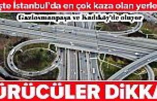 İstanbul'da en çok kaza yapılan yerler tespit...