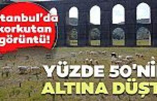 İstanbul'da korkutan görüntü! Alibeyköy Barajı'nda...