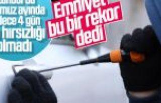 İstanbul'da otomobil hırsızlığında düşüş...