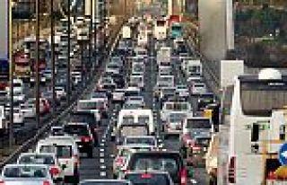İstanbul'da trafiğe bayram arası