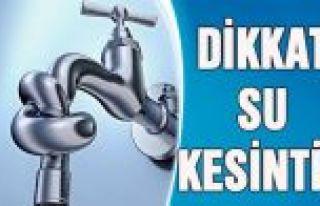 İstanbul'un 4 ilçesinde 16 saatlik su kesintisi