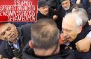 Kılıçdaroğlu'na saldıran kişinin sorgusu devam...