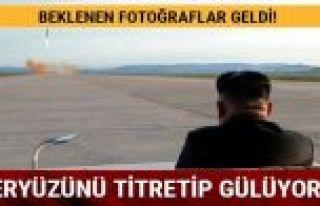 Kuzey Kore füze denemesinin fotoğraflarını yayınladı