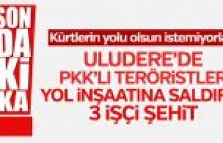 PKK yol inşaatına saldırdı: 3 işçi şehit
