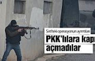 Siirt'te kaçan PKK'lılara kapıyı açmadılar