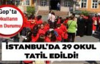 Son dakika! İstanbul'da 29 okulda Pazartesi günü...