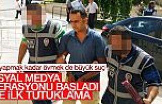 Sosyal medyadan darbeye destek veren şahıs tutuklandı