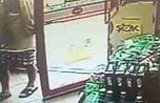 Suikastçı asker markette görüntülendi