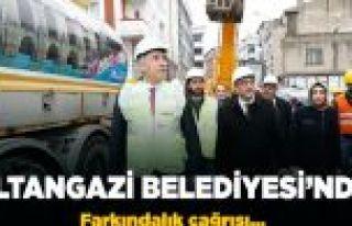 Sultangazi Belediyesi'nden depreme karşı farkındalık...