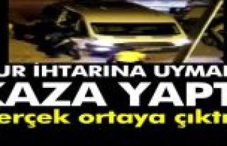 Sultangazi'de Bekçilerden kaçan minibüs kaza yapınca...