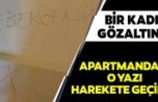 Sultangazi'de bir apartmana 'Gebereceksin' yazılmıştı!...