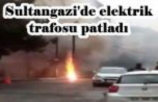 Sultangazi'de elektrik trafosu patladı