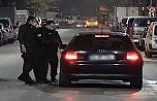 Sultangazi'de kaçan alkollü sürücüyü gece kartalları...