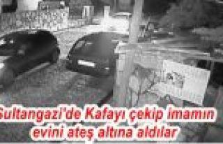 Sultangazi'de Kafayı çekip imamın evini ateş altına...