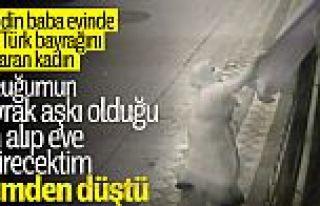 Sultangazi'de Türk bayrağını koparan kadın: Özür...