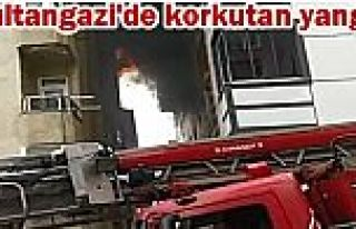Sultangazi'de yangında engelli anne ve kızını...