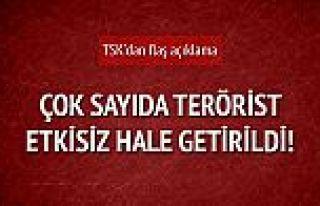 TSK'dan flaş açıklama: 33 terörist etkisiz hale...