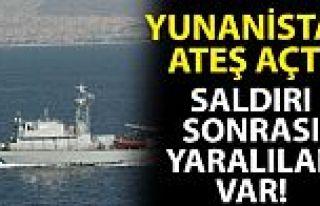 Yunan Deniz Kuvvetleri tarafından ateş açıldı!