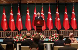 Cumhurbaşkanı Erdoğan: Kısa çalışma ödeneğini mart sonunda bitiriyoruz