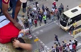Sultangazi'de yolun karşısına geçmeye çalışan kişiye tramvay çarptı