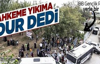 Eyüpsultan'da İBB'nin Gençlik Parkı'nı yıkım kararının yürütmesi durduruldu