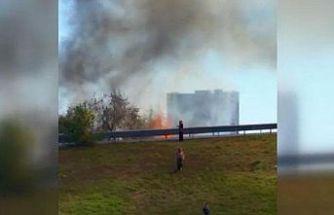 Bayrampaşa'da ağaçlık alanda yangın çıktı