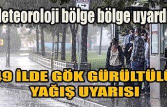 Meteoroloji bölge bölge uyardı! İstanbul dahil 49 ilde gök gürültülü yağış uyarısı